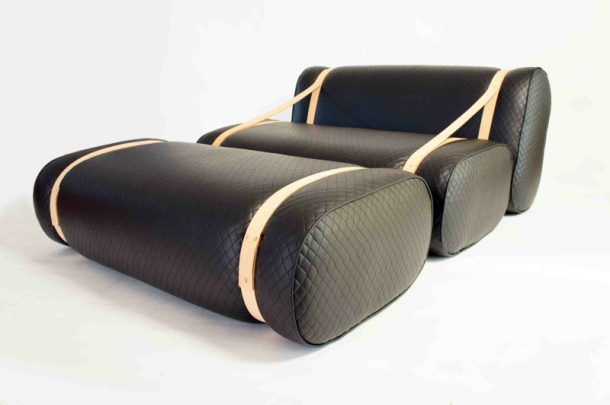 Gepäckstück als Sofa von Purcell Living